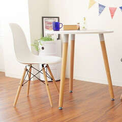 北欧/ダイニングテーブル/一人暮らし/新生活/二人暮らし/PCデスク/... お部屋になじむ柔らかなデザイン。お部屋の…
