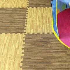 ジョイントマット/キッズスペース/キッズルーム/子供部屋/こども部屋/リビングルーム/... うちのキッズスペースに設置しました!組み…