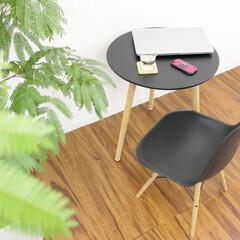 北欧/ダイニングテーブル/PCデスク/くつろぎスペース/男前インテリア/北欧インテリア/... お部屋になじむ柔らかなデザイン。お部屋の…