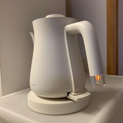 バルミューダ 電気ケトル バルミューダ ザ・ポット K02A-WH ホワイト | BALMUDA(電気ポット)を使ったクチコミ「なぜ高くても売れてるの〜☺︎ 電源のON…」