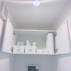 セリア購入品/ワッツ購入品/モノトーン収納/シンプルな暮らし/シンプルライフ/トイレ収納/... 🚽トイレ収納🚽 うちの2階トイレです。 …