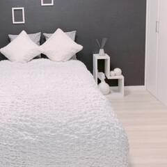 イケア 毛布 ホワイト 130x170cm 601.738.56 | イケア(電気毛布、ひざ掛け)を使ったクチコミ「ベッドカバーに使ったりもします。 このふ…」