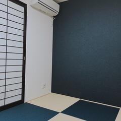 シンプルインテリア/畳スペース/作って良かった/和室/琉球畳/たたみ/... 今日は和室を載せてます。  向かって右に…