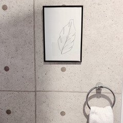 洗面所インテリア/アートポスター/Art/雑貨/おしゃれ/暮らし お友達からこんな絵をもらいました♡ 描け…