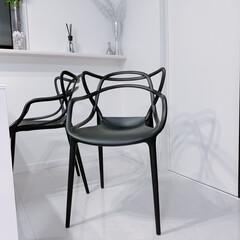 購入品紹介/ダイニング/カルテル/ジェネリックチェア/リプロダクト/チェアー/... ダイニングの椅子を買い替えました☝︎ 白…
