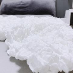 イケア 毛布 ホワイト 130x170cm 601.738.56 | イケア(電気毛布、ひざ掛け)を使ったクチコミ「IKEAのオフェーリア☝︎ ロングヒット…」
