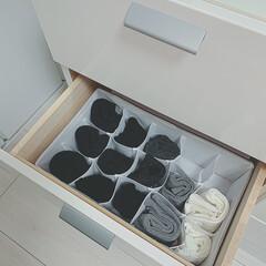 スッキリ収納/くつした/ワッツ購入品/ワッツ/100均/簡単/... これがあったら靴下の色、素材 すぐわかる…