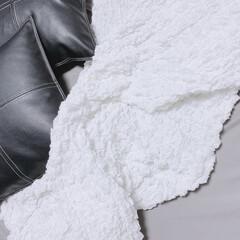 イケア 毛布 ホワイト 130x170cm 601.738.56   イケア(電気毛布、ひざ掛け)を使ったクチコミ「肌触りも見た目も涼しげ〜〜☺︎ IKEA…」