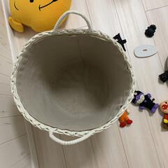 洗える内布付き/カゴ/カゴ収納/Francfranc/ぬいぐるみ収納/ぬいぐるみ この籠には内布付きです。 汚れても洗えま…