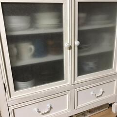 インテリア/ニトリ/家具/NITORI/ニトリ家具 去年の始めに圧迫のないチェスト型の食器棚…(1枚目)