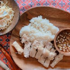 スタミナ丼/夏に向けて/スタミナご飯/スタミナ飯/スタミナ盛り カオマンガイ初めて作ってみた💦ライスの味…