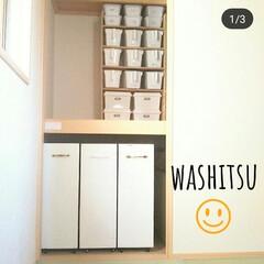 和室DIY/取手付きカゴ/カゴ/カゴ収納/押し入れ収納/押し入れ/... 我が家の食器棚です💕✨ 食器棚の一番上に…(3枚目)