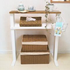 木材/施設暮らし/テーブルDIY/DIY/介護用品/サイドテーブル/... 以前祖母にプレゼントしたベッド横に置くテ…