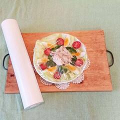 スパッと切れるラップケース グレー(米びつ)を使ったクチコミ「カインズのラップケースを使った時✨  ラ…」