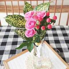 フラワー/定期便/medelu/花のある生活/花のある暮らし/花/... medeluさまからお花が届きました🌹✨…