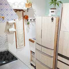 スキマ空間/隙間収納/ごみ箱DIY/ゴミ箱/セリア/DIY/... 我が家のキッチンに合わせて作ったゴミ箱D…