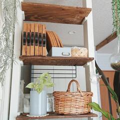 インテリア/DIY/ディアウォール/雑貨/キッチン/収納/... キッチンカウンターに作ったディアウォール…(2枚目)