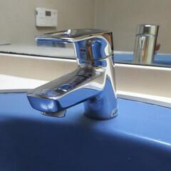 お家のお掃除/洗面台/ぴかぴか/ハウスクリーニング/水垢 洗面台の蛇口 (清掃前写真は前にあります…