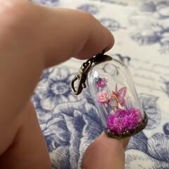 セリア/妖精標本商会/新緑の妖精/rosefloraison24'g.../minne/雑貨/... バックチャームサイズだと思うのですが、ご…