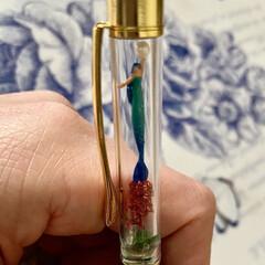 マーメイドのボールペン/カスタマイズボールペン/妖精標本商会/minne/雑貨/母の日 カスタマイズボールペンに自分は妖精やマー…