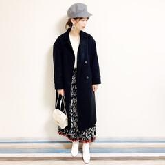 ファッション/おすすめアイテム/ママ/ママコーデ/annaママの高見えコーデ/ホワイトブーツ/... 🧸通勤コーデ🧸 花柄スカートの大人コーデ…(2枚目)