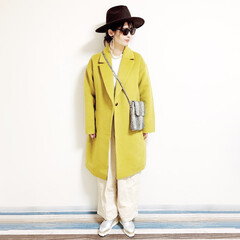 ファッション/おすすめアイテム/annaママの高見えコーデ/カラーコーデ/カラーコート/パイソン柄/... 🧸通勤コーデ🧸 久しぶりにパンツの気分🎶…(2枚目)
