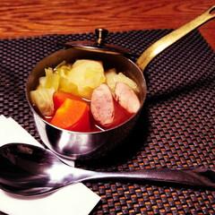 料理/ポトフ/スープ/夕食/暮らし 息子が作ってくれた ポトフです。 かわい…