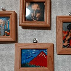 アート/絵画/アイロンビーズ/雑貨/ハンドメイド/住まい 旦那さんが作った、 ミニサイズのアイロン…