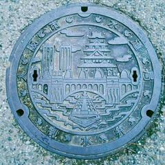 大阪/マンホール/おでかけ/暮らし 大阪で見つけた マンホール。 大阪盛りだ…