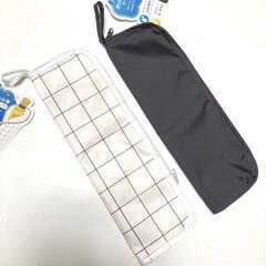 モノトーン雑貨/便利/折りたたみ傘ケース/折りたたみ傘/100均/キャンドゥ キャンドゥの折りたたみ傘ケース。 濡れた…