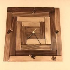 掛時計/時計DIY/DIY/雑貨/ハンドメイド/住まい/... 掛時計をDIY   No. 002 杉板…