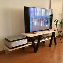 テレビボード パイン集成材を使ってTVテーブルを作成 …
