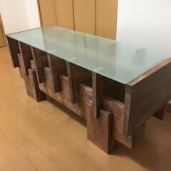 ヴィンテージ/テーブル/TVテーブル/集成材/DIY/インテリア/... 日焼けした集成材をヴィンテージワックスで…