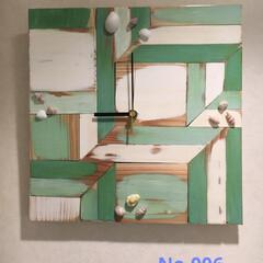掛時計/DIY/雑貨/ハンドメイド/住まい/暮らし/... No.006  杉井の形を変えて組み木し…