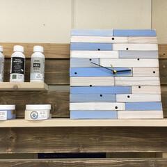 掛時計/DIY/雑貨/ハンドメイド/住まい/暮らし 新しい塗料が入荷しました。 ティッシュか…