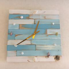 時計DIY/100均/DIY/雑貨/ハンドメイド/暮らし/... 掛時計をDIY 10月の曇空をイメージし…