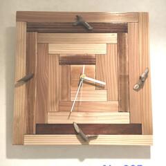掛時計/DIY/雑貨/ハンドメイド/住まい/暮らし/... No.005  ウレタン塗装のオーク&ク…