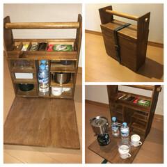 オカモチ/アウトドア/DIY/100均/ダイソー/収納/... ( DCO )どこでもコーヒーおかもち …