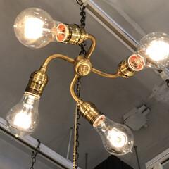 照明器具/pointno38/ルームライト/オシャレ/部屋全体/リビング/... 昨日に引き続き、今日はリビングの照明を💡…(2枚目)