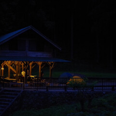夜のひととき/焚き火/キャンプファイヤー/キャンプ部/キャンプ/アウトドア部/... キャンプで1番好きなのは、bbqとかご飯…