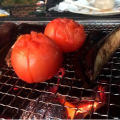 グリル/野菜/肉/BBQ/秋/グルメ/... BBQに良い時期になってきました🍖🥦🍅 …(4枚目)