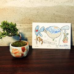 グリーンインテリア/グリーン/植物/植物のある暮らし/盆栽/秋/... 誕生日に友人にもらったミニ盆栽。残念なが…