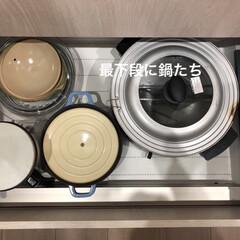 コンロ下収納/キッチン収納/使い込んだ鍋/物の住所決め コンロ下収納は汚れやすいし考えものだった…(4枚目)