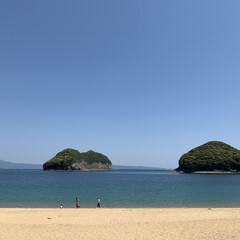 海岸 誰もいないかなぁと思い近くのビーチへ、意…
