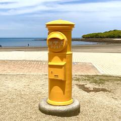 ポスト/パワースポット/幸運/黄色 💛幸せの黄色いポスト💛 宮崎県の青島神社…
