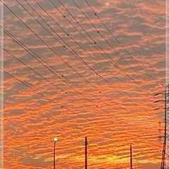 夕日/駐車場 久々ですっ😅 真っ赤なお空だったので、お…