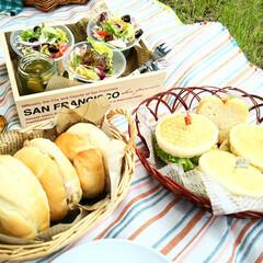 ハンドメイド/ベーグル/イングリッシュマフィン/サラダ/ピクニック 以前は季節問わず、週末になるとサンドイッ…