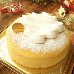 クリスマス/チーズケーキ/クリーム 口のなかでしゅわっとほどける食感がたまら…