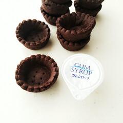 森永製菓 純ココア 110g×3個(カクテル)を使ったクチコミ「ひとくちサイズのミニミニクッキータルト。…」