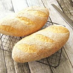 グローバル パン切り 刃渡り 22cm G-9(その他キッチン、台所用品)を使ったクチコミ「片手間に作っていたら、ずいぶんと太めに仕…」